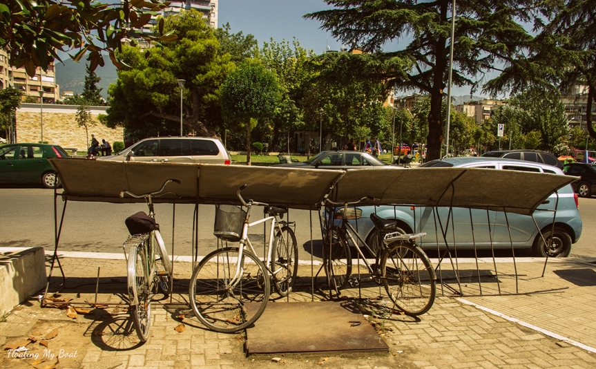 bikes in Tirana, biking in Albania