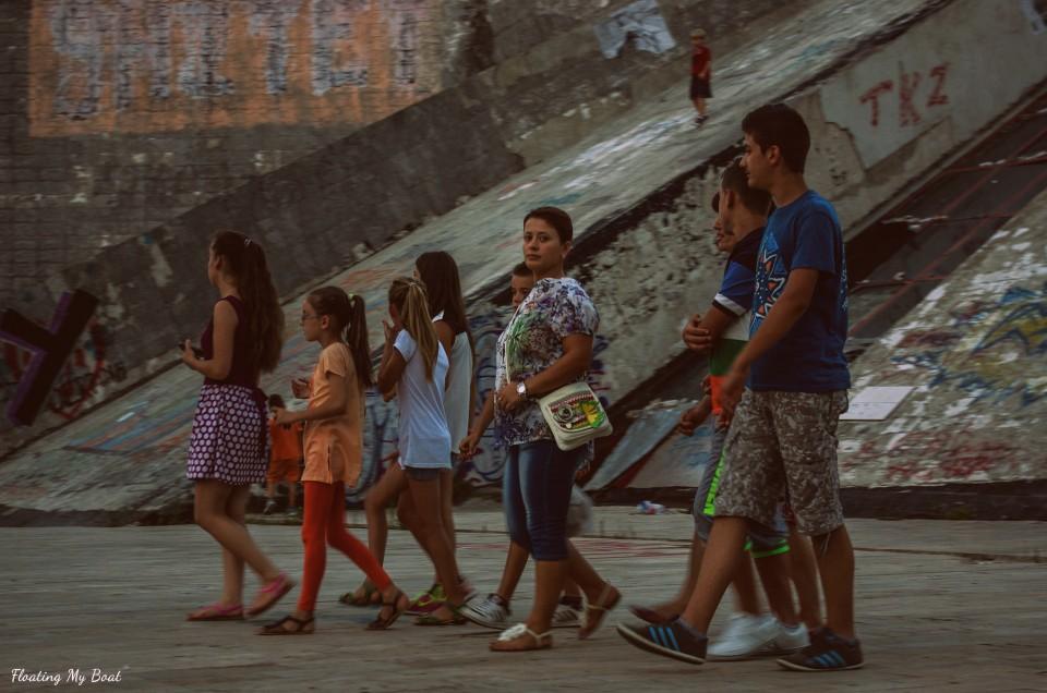 Street life in Tirana
