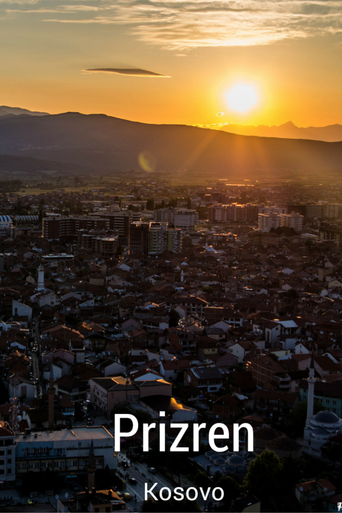 Prizren Fortress sunset Kosovo