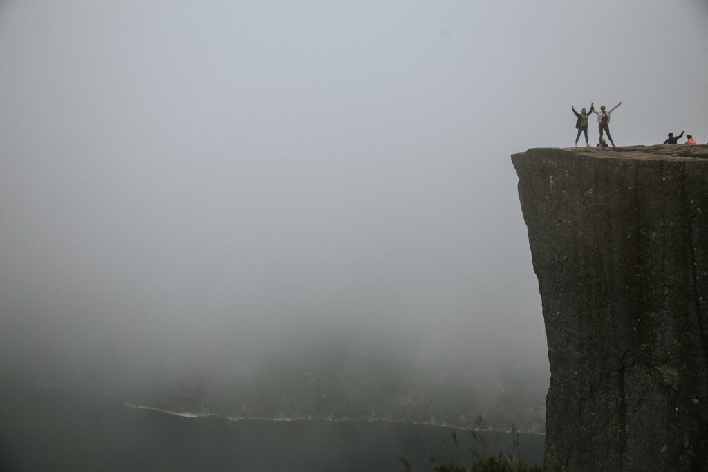 preikestolen-mgła-pogoda