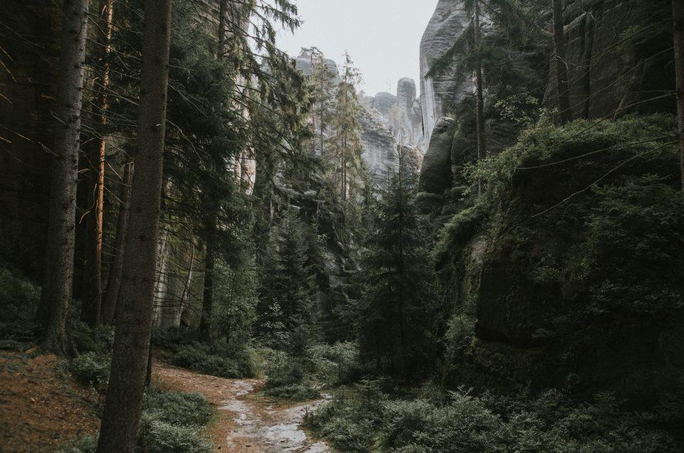 Adrspach, Błędne Skały, Szczeliniec - o siedmiu blondynkach i psie, co pojechały w góry - zdjęcia