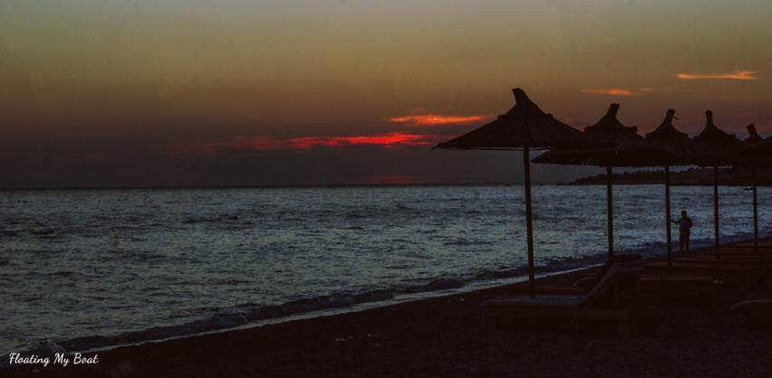 beautiful sunset in Dhermi