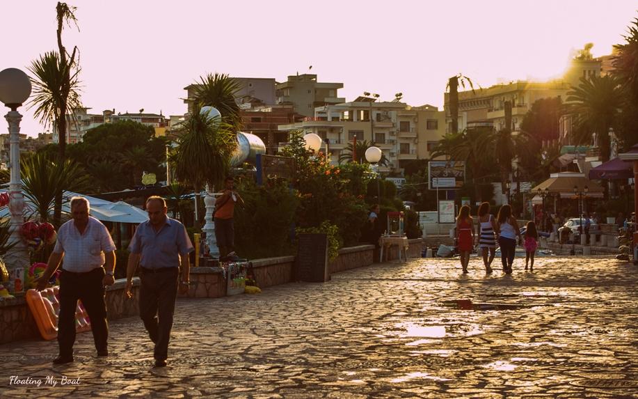 promenade in Sarandë, Sarande, Albania, holidays in Sarandë